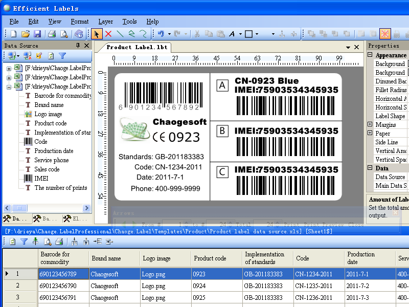Click to view Efficient Labels screenshots